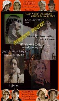 'Pioneer Women,' original play, 7/23 - 8/1 in Hancock, NY