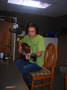 Chaz DePaolo at the WNTI studios live with Mel in the Morning.
