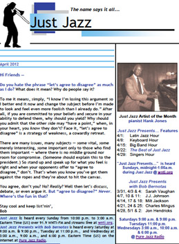 Just Jazz April 2012 Newsletter