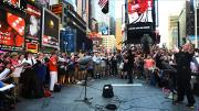 A 'Flash Choir' Sings Philip Glass In Times Square