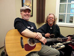 Buck Dilly and Don Elliker at the WNTI Studios.