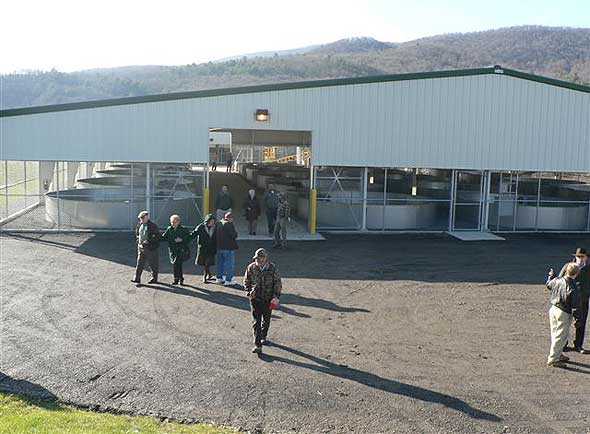 Wvmr coursey springs fish hatchery reopens following two for Virginia fish hatchery